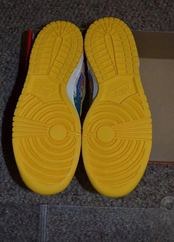 Brand New Nike Scribble Dunks Size 6.5Y = 8.5 Women