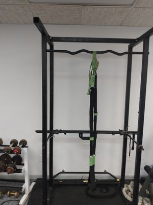 Power rack with pull up bar steel made super sturdy, with free bonus in it! for Sale in Denville, NJ