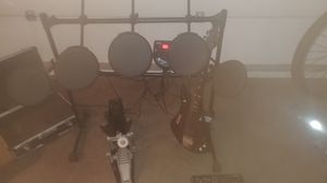 Ion 5 pcs electronic drum set, yamaha electric kick pedal, fostex mr8 and a xbox rockband* guitar for Sale in Saint Joseph, MO