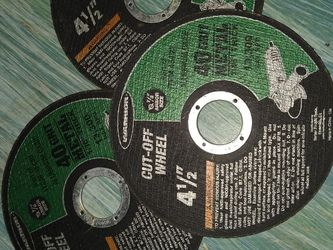 Three Brand New Four And A Half Inch Cutting Wheels For An Ankle Grinder for Sale in Portland,  OR