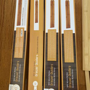 Belmint Bamboo Deep Kitchen Drawer Dividers for Sale in Los Angeles, CA