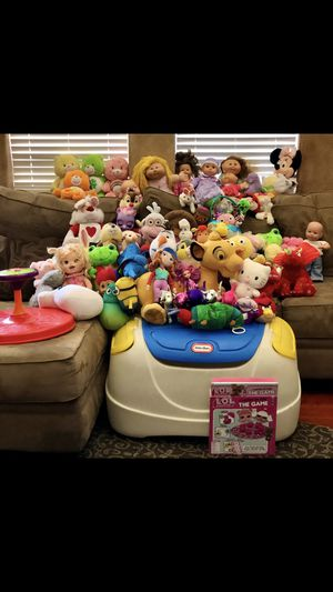 Stuffed Animals and Toys with Toy Basket! for Sale in LAS VEGAS, NV