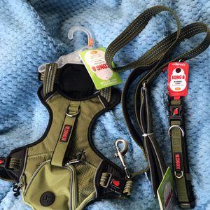 Medium Green Kong Backpack Harness + Medium Green Matching Collar & Leash (LOCAL PICK UP $27) for Sale in El Cajon, CA