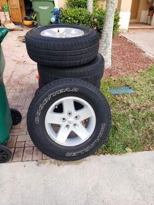 OEM Jeep Wrangler JK Wheels and Tires. for Sale in Homestead, FL