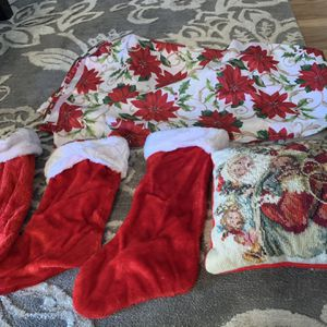 Christmas Stuff Like Small Cute Pillow Table Cloth Big Size for Sale in Ceres, CA