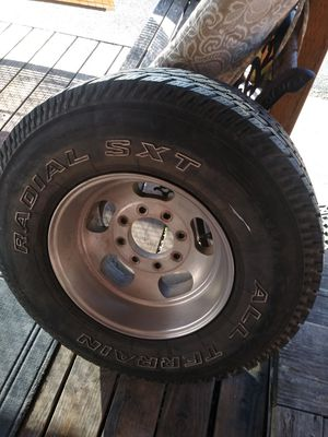 Old school rims & tires 8 lug chevy truck 33x12.5 /16.5 for Sale in Vancouver, WA