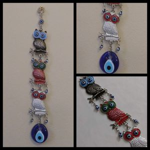 WALL DECOR / OWL LARGE GLASS EVIL EYE PROTECTION. for Sale in Bothell, WA