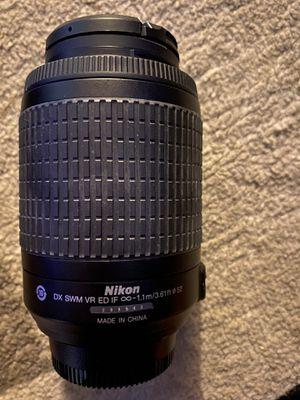 Nikon DX AF-S 55-200mm 1:4-5:6 ED Lens for Sale in Elliston, VA