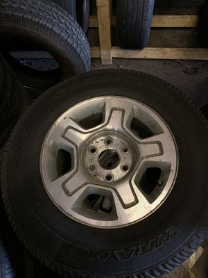 Silverado rims and tires for Sale in Miramar, FL