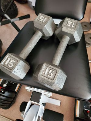 15 lbs dumbbell pair for Sale in West Springfield, VA