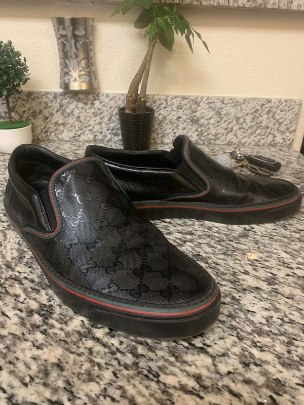 Gucci GG Monogram Slip-on Sneakers Size 10 trades accepted
