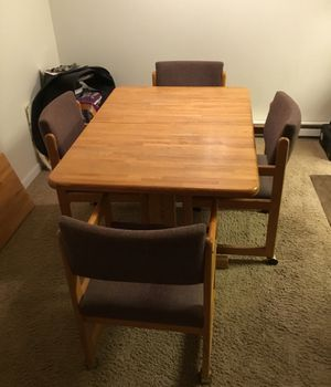 Kitchen Table & Chairs w/ Wheels for Sale in Portland, OR