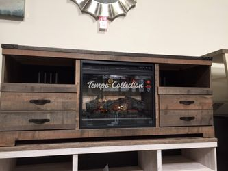 Trinell TV Stand with Fireplace, Brown, SKU# ASHW446-68TC for Sale in Santa Fe Springs,  CA