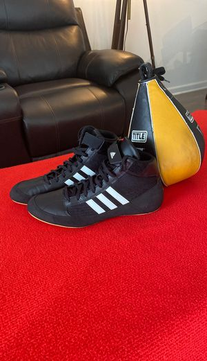 Boxing shoes and speed bag for Sale in Kissimmee, FL
