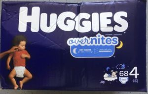 1Box Huggies Overnites Diapers Size 4 for Sale in Chino, CA