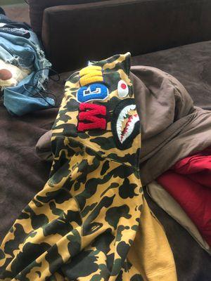 Yellow Camo Bape Hoodie for Sale in North Springfield, VA