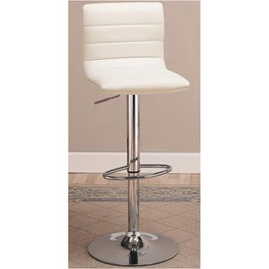 white & chrome swivel adjustable bar stools! for Sale in Naperville, IL