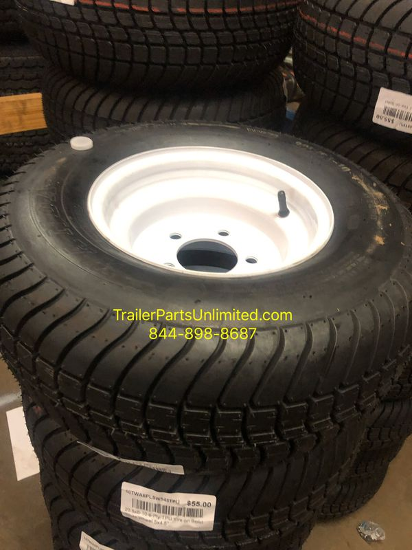 """20.5x8-10 6-Ply TPU Tire on Solid White Wheel 5x4.5"""""""