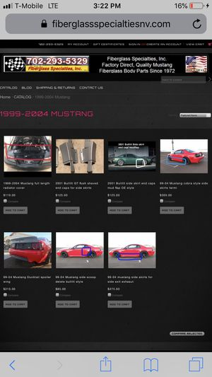 1999-2004 Mustang custom fiberglass auto body parts custom for Sale in Henderson, NV