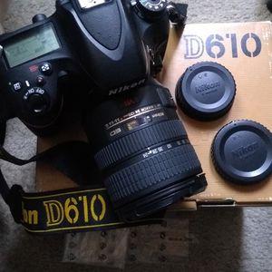 Nikon D610 W/24-120mm ED G VR FX Full Frame Camera Lens Lenses for Sale in Santa Clara, CA