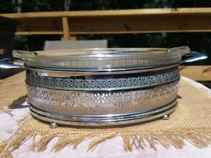 Pyrex 1920's casserole dish with carrier for Sale in Hermitage, TN