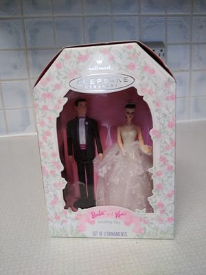 Hallmark keepsake Barbie and Ken getting married ornaments. New in box for Sale in Richardson, TX