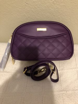 Eggplant joy and IMAN Lux Leather Crossbody Clutch for Sale in Arlington, TX