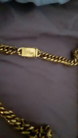 Gold chain 18k for Sale in Aurora, IL