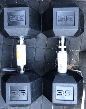 35lbs Dumbbells pair total 70lbs for Sale in East Meadow, NY