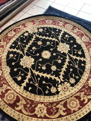 nice new black red 6 x 6 persian design rug for Sale in Beverly Hills, CA
