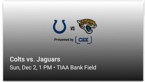 Jacksonville Jaguars vs Colts for Sale in Jacksonville, FL