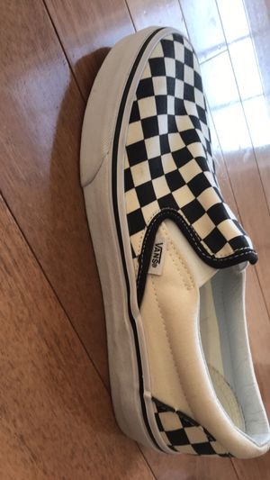30 obo checkered black and white vans 8 men 9.5 women's Never worn for Sale in Richmond, VA