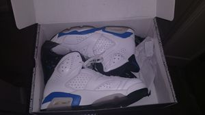 Jordan 6 Retro White/Sport Blue for Sale in Baltimore, MD