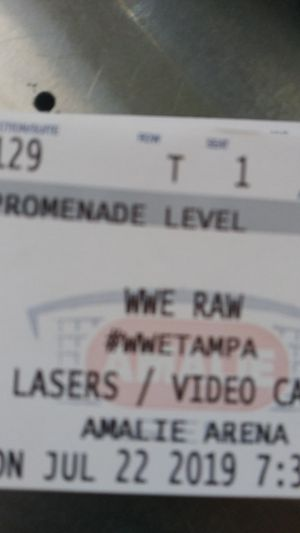 WWE Monday Night Raw $85 lower level seats section 129 for Sale in Tampa, FL