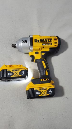 Dewalt 20V Max XR Brushless 1/2in High Torque Impact Wrench. W/ 2 new 4ah XR batteries. Firm for Sale in Plainfield, IN