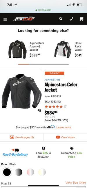 Alpine Stars Celar motorcycle jacket size 42USA for Sale in Corona, CA
