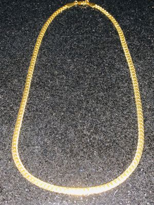 """New 20"""" Gold Plated 18K Mens/Women's Cuban Chain with diamond cuts for Sale in Morro Bay, CA"""