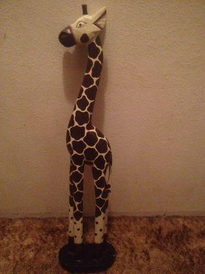 Wood tribal giraffe sculpture for Sale in Beaverton, OR