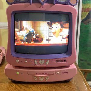 "Disney Princess Pink 13"" CRT Color TV Retro Gaming DT1350-P Tested- Read for Sale in Smyrna, GA"
