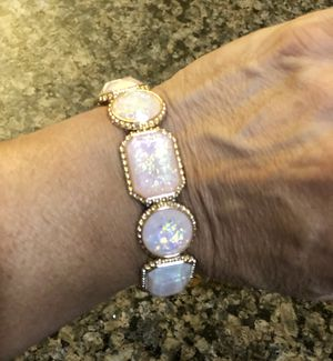 Gorgeous gold tone bracelet with opal like stones. Very nice! for Sale in Tolleson, AZ