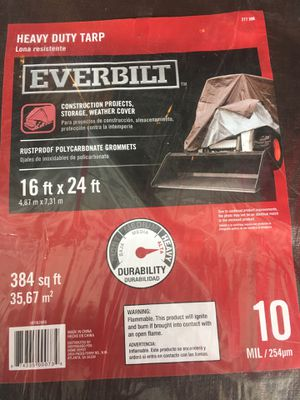 16x24 heavy duty cover or tarp 10mil for Sale in Tampa, FL