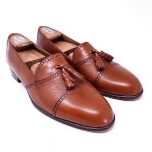 Bally Men's Dress Shoes Brandy Brown Leather Tasseled Brogue Loafers Italy Size 11 for Sale in Huntington Beach, CA