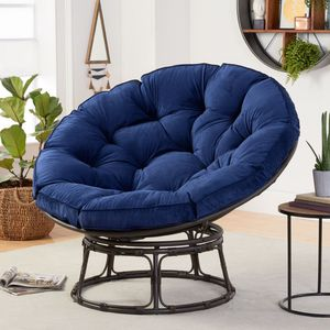 Navy Papasan Chair with Fabric Cushion Home Furniture for Sale in Henderson, NV