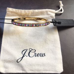 (NEW) (1 AVAILABLE) WOMEN'S J.CREW GOLD BAGUETTE HINGE BRACELET (MSRP: $49.50) for Sale in Compton, CA
