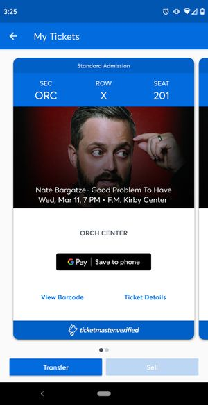 2 tickets to this awesome comedian! GREAT seats. Asking what I paid. for Sale in Old Forge, PA