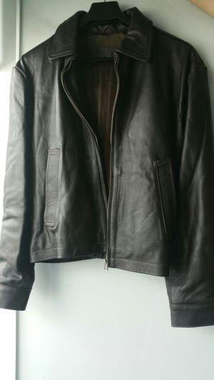 Leather Jacket Dark Brown Medium for Sale in Key Biscayne, FL