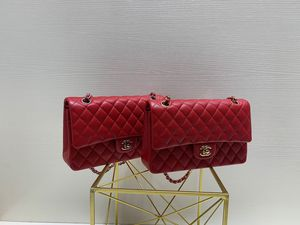 chanel double flap red medium classic bag / in lambskin or caviar/ gold or silver hardware/ other colors available too for Sale in New York, NY