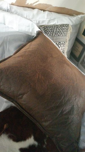 giant brown pleather pillow for Sale in Jacksonville, FL