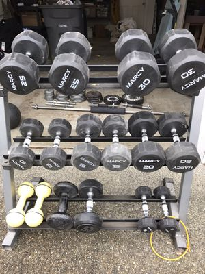 Weight set and rack for Sale in Bothell, WA