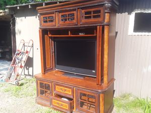 Aspen homes entertainment center with lights good condition asking 760 for Sale in Houston, TX